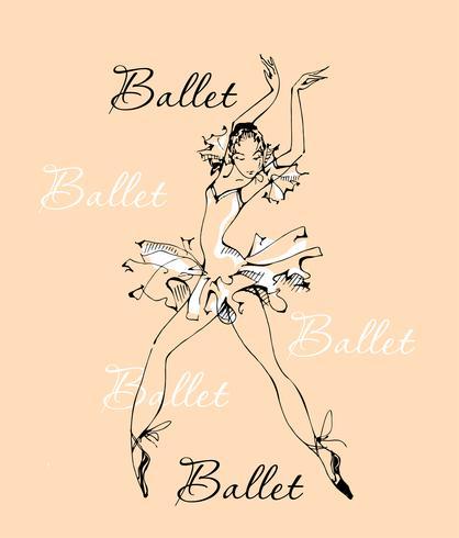 Balletto. Ballerina. Ballerino. Logo.Vector illustrazione. vettore