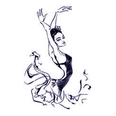 Bailarina. Dançarino. Balé Carmen. Gráficos. Ilustração vetorial
