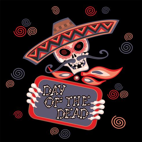 Day of the dead. Lettering. Holiday card. Vector. vector