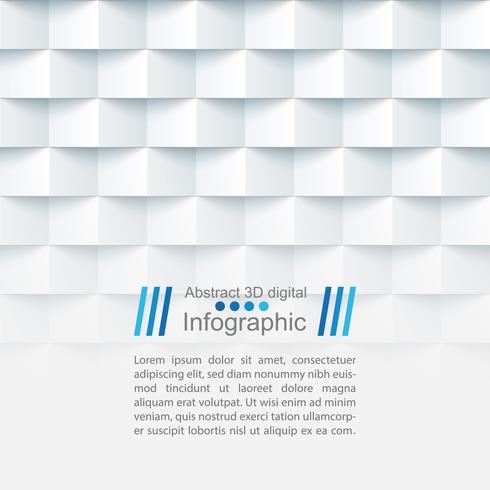 Plantilla de papel abstracta - estilo origami