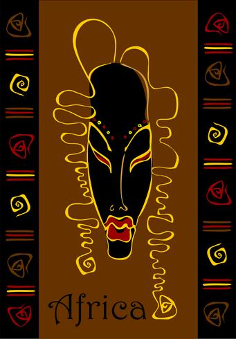 Máscara. Étnico. Exótico. Simbolismo africano. Ornamento. Vector.