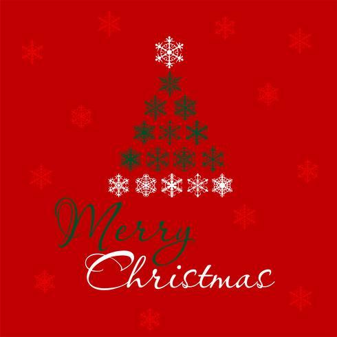Vrolijk kerstfeest. Kerstboom belettering. Vector illustrarion
