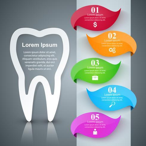 Infografía de negocios. Icono del diente