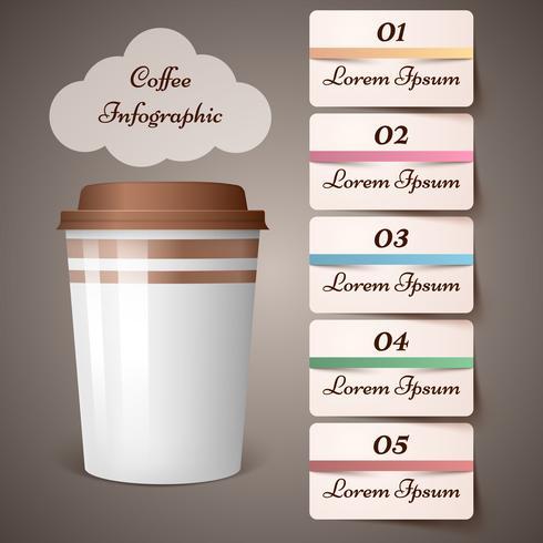 Tazza, caffè, tè - infografica di affari. vettore