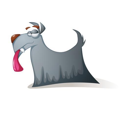 Perro loco - personajes de dibujos animados divertidos.