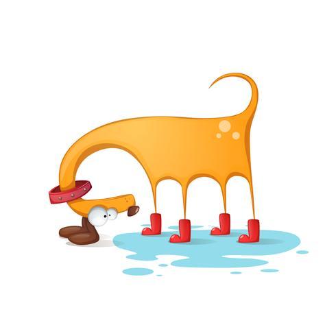 Funnu, cute, crazy yellow dog.