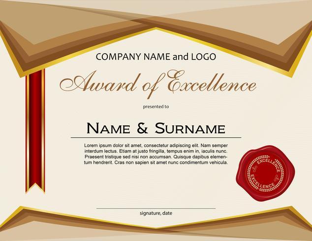 Award of Excellence med vaxtätning och band