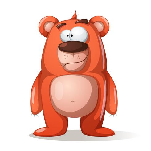 Lindos, divertidos personajes de osos. vector
