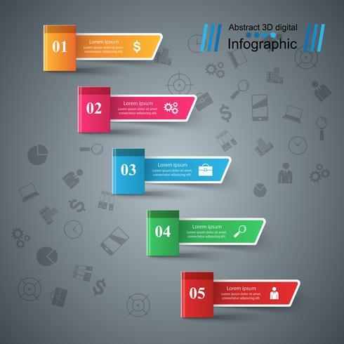 Libro di carta - infografica di affari.