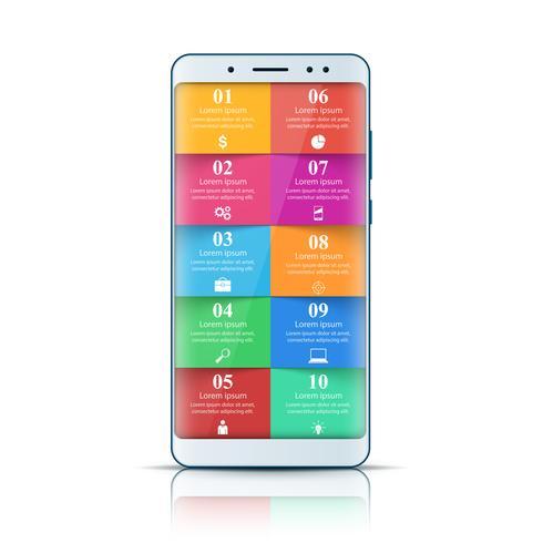 Gadget digital, ícone do smartphone. Infográfico de negócios.