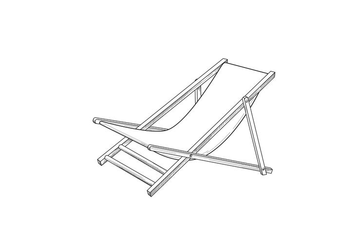 Awesome Deckchair Outline Drawing Deck Chair Sketch Summer Holiday Ibusinesslaw Wood Chair Design Ideas Ibusinesslaworg