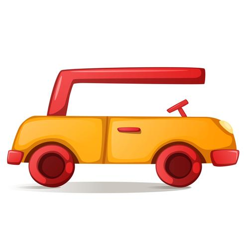 Illustrazione di auto carino, divertente.