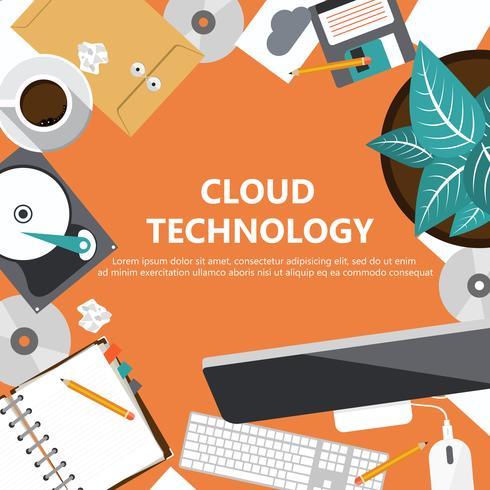 Concepto de tecnología en la nube