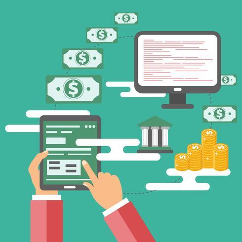 Concept de méthodes de paiement en ligne. Icône de paiement en ligne
