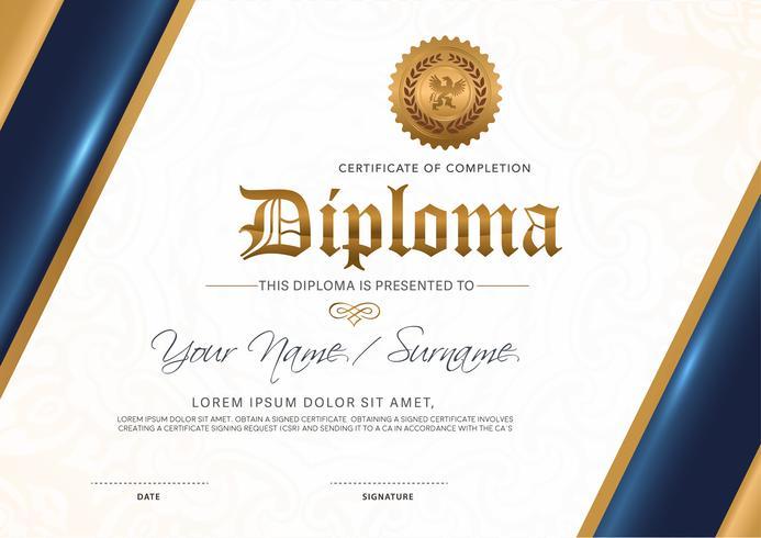 Zertifikat Vektor Luxus Vorlage