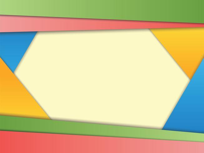 Abstrakter Hintergrund mit Papierschichten im modernen materiellen Design