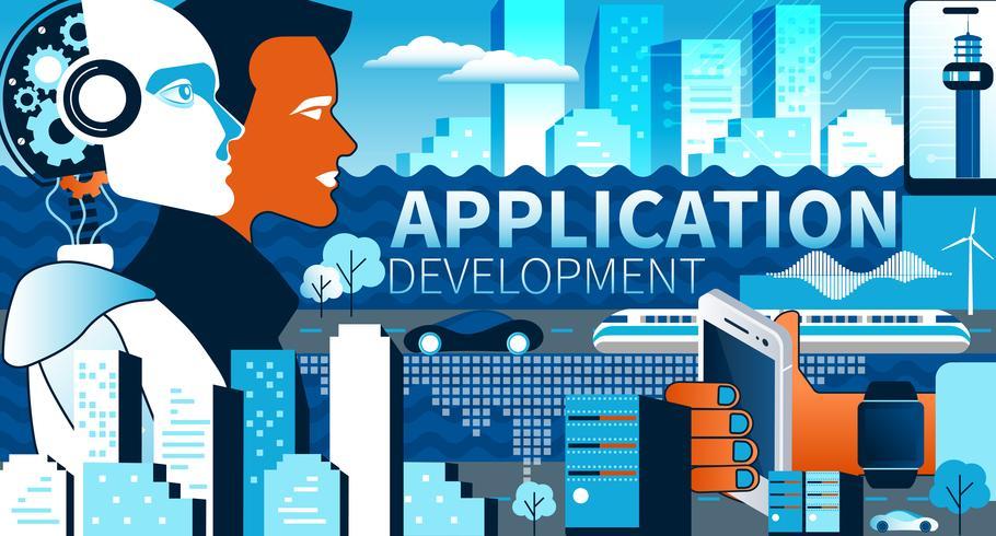 Applikationsutveckling modernt koncept