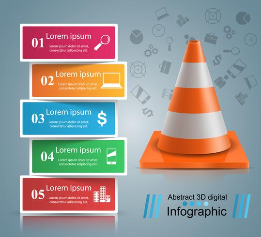 Road repair infographic design template and marketing icons.
