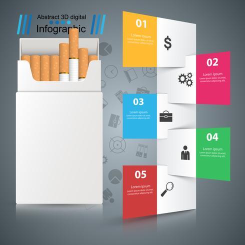 Cigarrillo nocivo, víbora, humo, infografías de negocios.