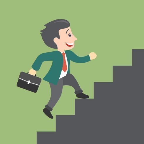 Man klättrar trappan - affärsutveckling och karriärutvecklingskoncept