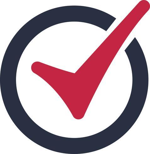 Vinkje logo pictogram. Symbool, goedkeuringssymbool of controlelijstteken accepteren