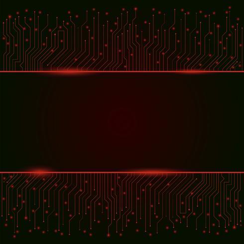 Kringsraad, rode abstracte lichtenachtergrond, banner, grens