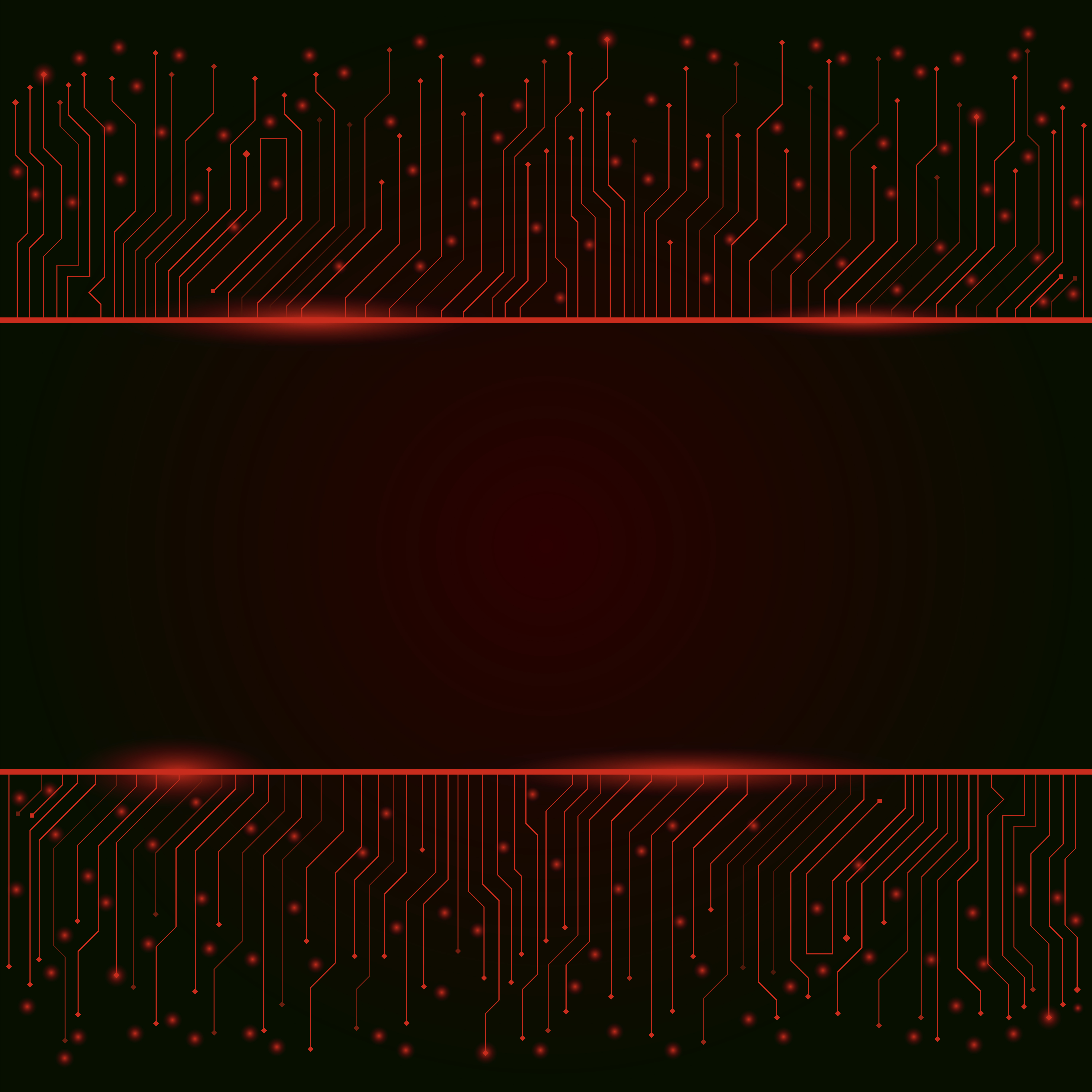 Circuit Board, Red Abstract Lights Background ,banner