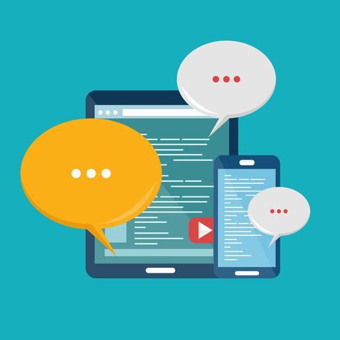 Mobilkommunikationskoncept. Socialt nätverk