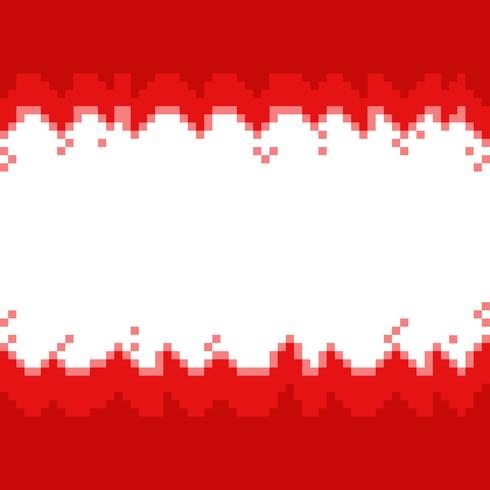 Red abstract pixel borders,frame with space for your text vector