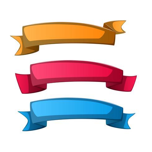 Bandera de papel - infografía de negocios. vector