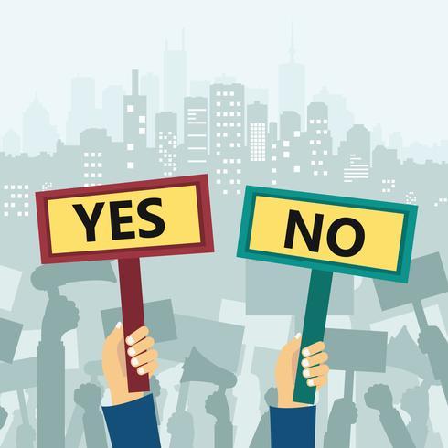Ja und keine Anzeichen. Protest in der Stadt