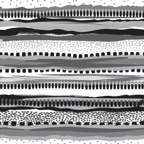 Gestreifte native Print-Design. Grunge Streifen nahtlose Muster