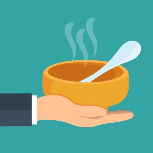 Concetto di beneficenza e organizzazioni di volontariato che alimentano le persone