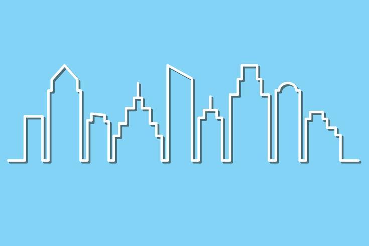 City skyline i minimalistisk stil