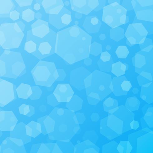 Fondo techno astratto geometrico blu con esagoni vettore