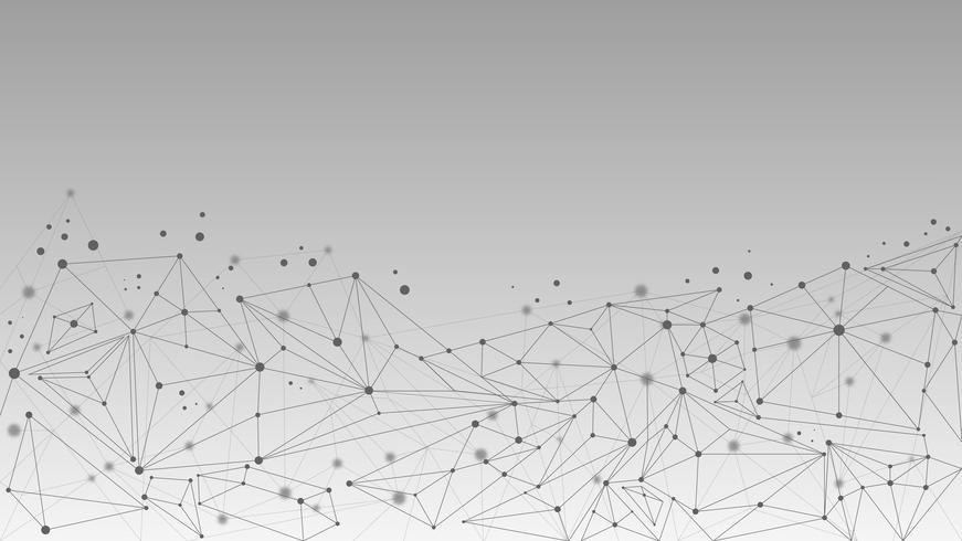 Molécule géométrique abstraite et fond de communication