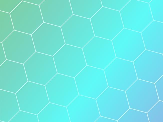 Fond géométrique abstrait bleu avec des formes hexagonales vecteur