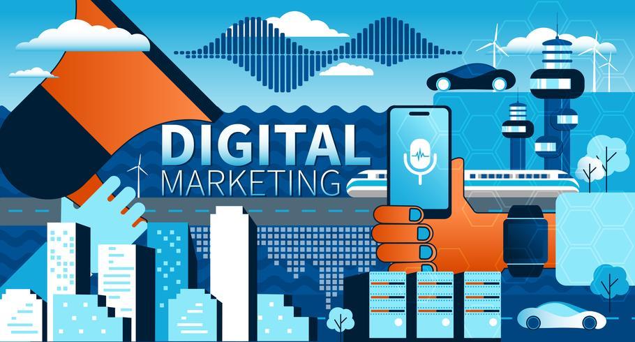 Marketing digital e conceito de publicidade