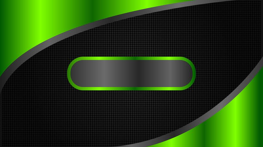 Abstract black and green tech banner design, minimal style