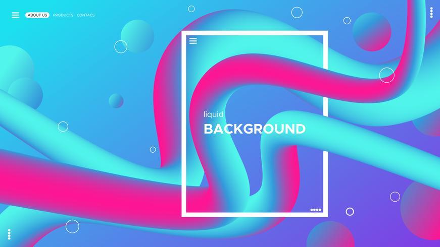Diseño abstracto del fondo del color. Líquido gradiente forma la composición. Plantilla de diseño líquido.