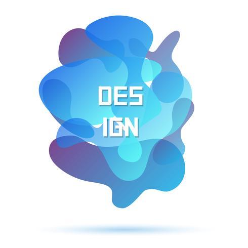 Blauwe kleuren, abstract modern grafisch element
