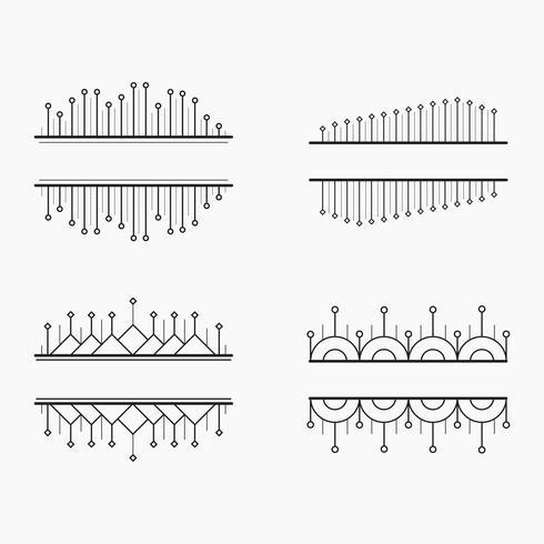 Conjunto de vetores de banners lineares geométricos elegantes simples