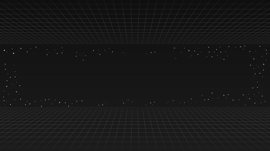 Svart framtida retro linje bakgrund, stil futuristisk synth retro våg