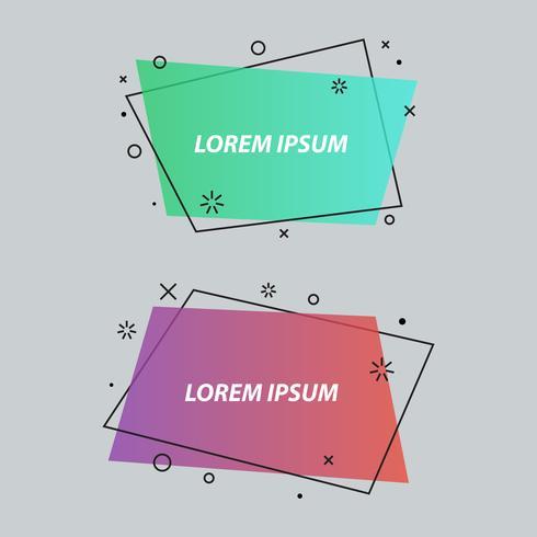 Geometrische Sprechblasen, Banner, Aufkleber, flachen Stil