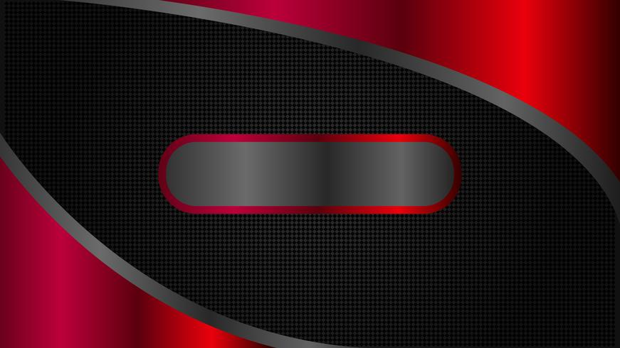 Minimal style, abstract black and red tech banner design vector