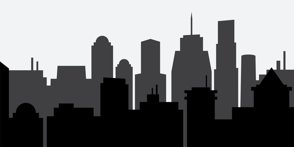 Silueta de la ciudad vector