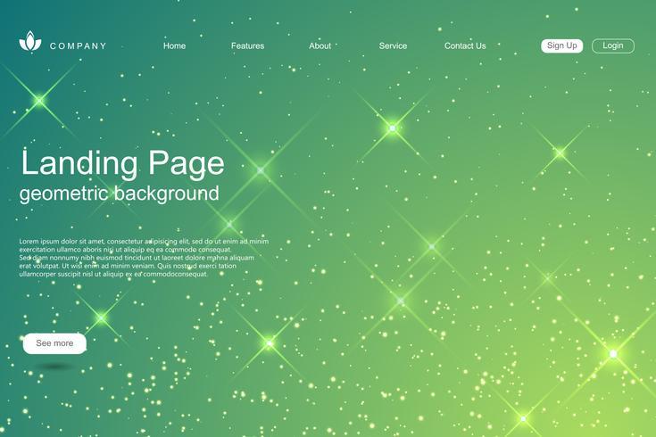 Landing Page Business Vektor Vorlage