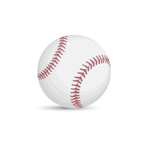 Baseball boll isolerad på vit bakgrund