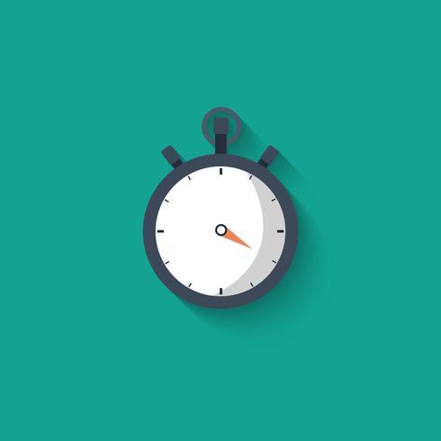 Stopwatch-ikonen. Platt vektor illustration