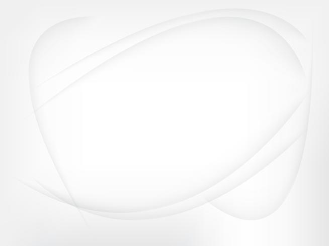 Abstrait lisse des lignes grises et blanches floues vecteur